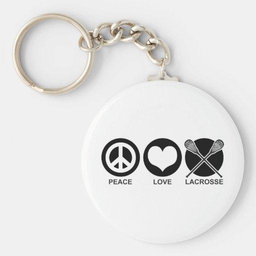 Peace Love Lacrosse Key Chains