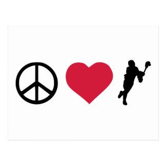 Peace, Love & Lacrosse Postcard