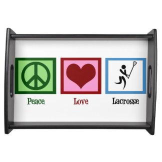 Peace Love Lacrosse Serving Tray