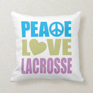 Peace Love Lacrosse Throw Pillows