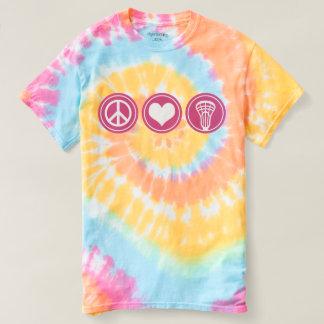 Peace Love Lacrosse Tie Dye female shirt