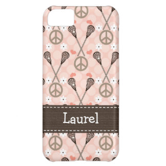 Peace Love Lacrossse iPhone 5C Covers