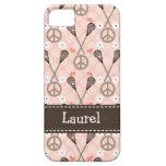 Peace Love Lacrossse iPhone SE/5/5s Case