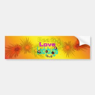 Peace love Ladybugs Bumper Sticker