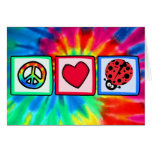 Peace, Love, Ladybugs Card