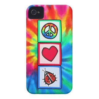 Peace, Love, Ladybugs iPhone 4 Case-Mate Case
