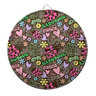 Peace, Love, Ladybugs Dart Boards