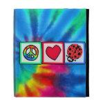 Peace, Love, Ladybugs iPad Cases