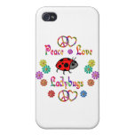 PEACE LOVE LADYBUGS iPhone 4/4S CASE