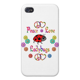 PEACE LOVE LADYBUGS iPhone 4/4S CASE