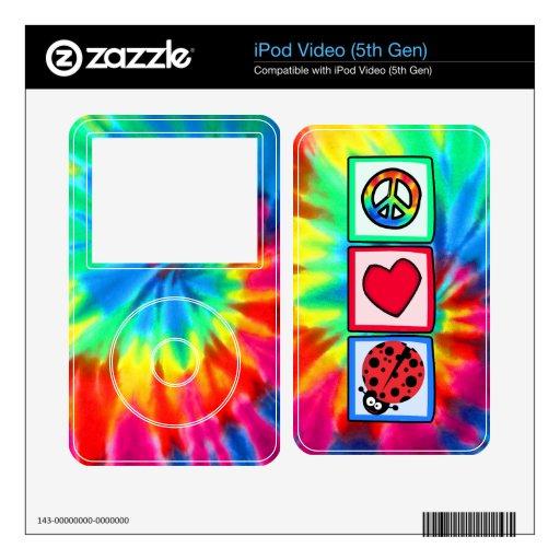 Peace, Love, Ladybugs iPod Video 5G Skin