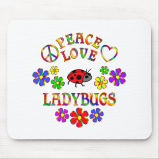 Peace Love Ladybugs Mouse Pad