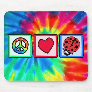 Peace, Love, Ladybugs Mouse Pads