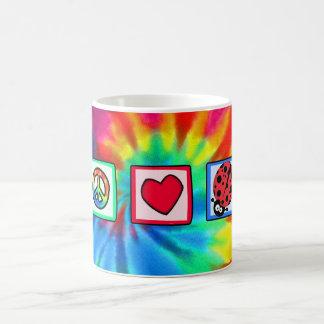 Peace, Love, Ladybugs Classic White Coffee Mug