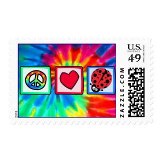 Peace, Love, Ladybugs Postage Stamp