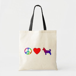 Peace Love Lancashire Heelers Tote Bag