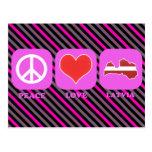 Peace Love Latvia Postcard