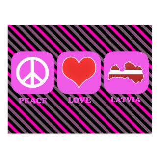 Peace Love Latvia Postcard