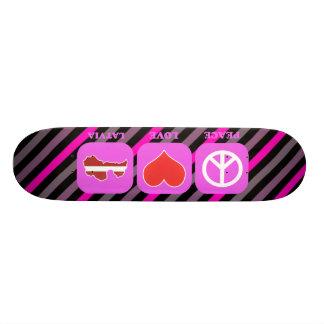 Peace Love Latvia Skate Board
