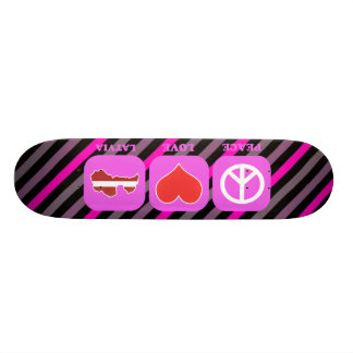 Peace Love Latvia Skateboard Deck