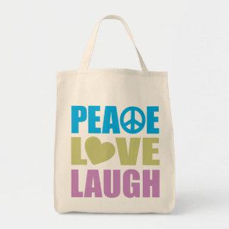 Peace Love Laugh Bag