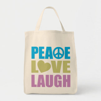 Peace Love Laugh Canvas Bags