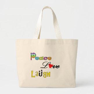 Peace, Love Laugh Bag