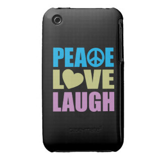 Peace Love Laugh iPhone 3 Cover