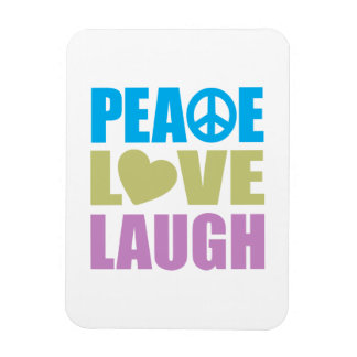Peace Love Laugh Rectangular Magnets