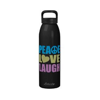 Peace Love Laugh Drinking Bottles