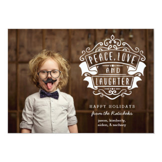 Peace, Love, Laughter | Holiday Photo Card
