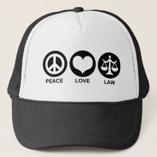 Peace Love Law Trucker Hat