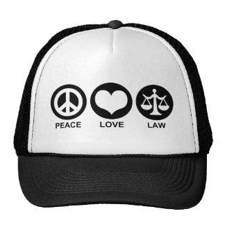 Peace Love Law Trucker Hat