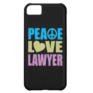Peace Love Lawyer iPhone 5C Cases