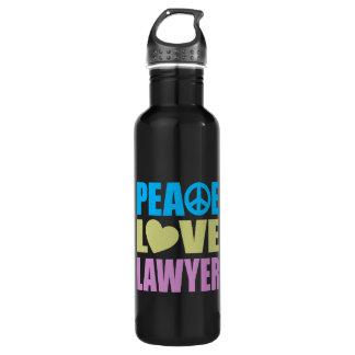 Peace Love Lawyer Stainless Steel Water Bottle