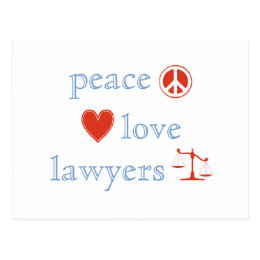 Peace Love Lawyers Postcard