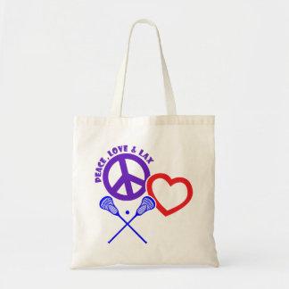 PEACE-LOVE-LAX TOTE BAG
