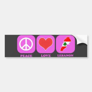 Peace Love Lebanon Car Bumper Sticker