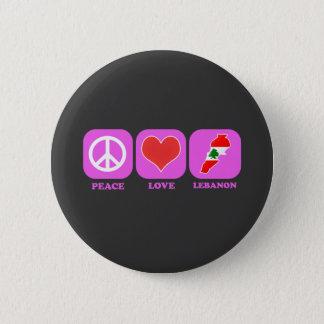 Peace Love Lebanon Pinback Button