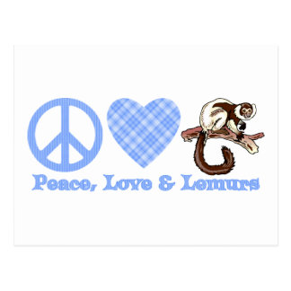 Peace, Love & Lemurs Post Cards