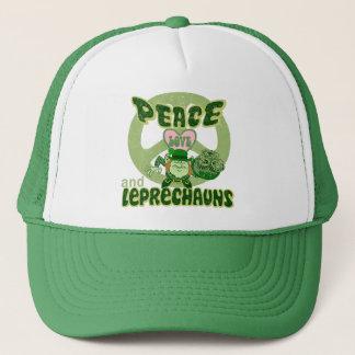 Peace Love Leprechauns Trucker Hat