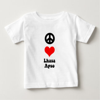 Peace love Lhasa Apso Baby T-Shirt