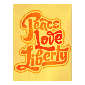 Peace Love Liberty Magnet Magnetic Card