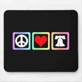 Peace love liberty mouse pad