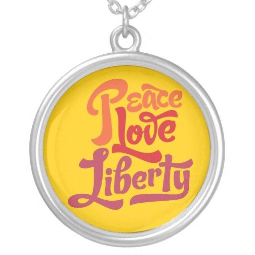 Peace Love Liberty Necklace