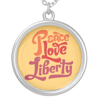 Peace Love Liberty Necklace