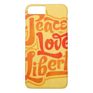 Peace Love Liberty Typographic Case