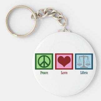 Peace Love Libra Basic Round Button Keychain