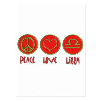 Peace Love Libra Postcard