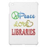 PEACE LOVE LIBRARIES CASE FOR THE iPad MINI